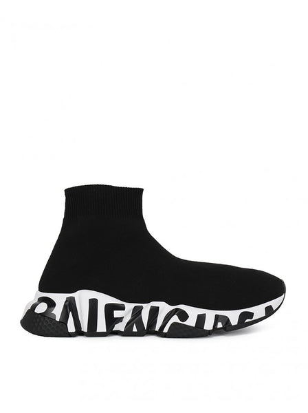 Speed Graffiti Sock Knit Sneakers
