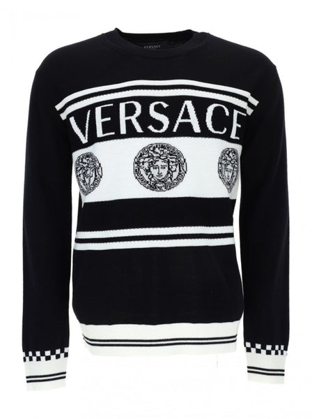 Medusa Intarsia Men's Wool Sweater