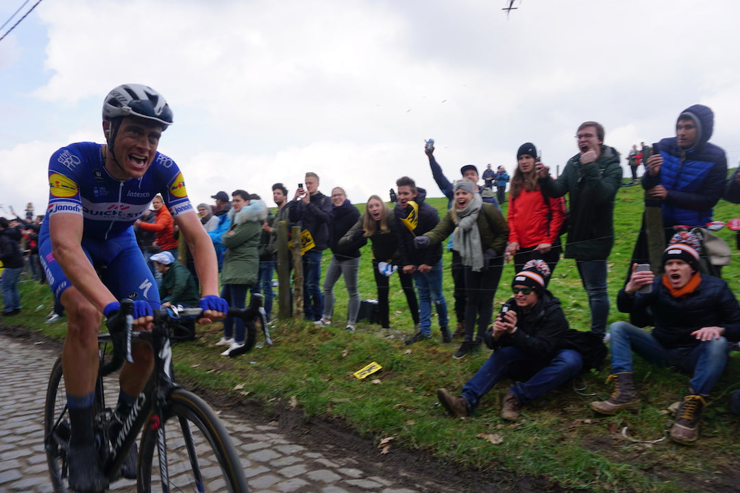 Niki Terpstra solo leader smashing the Kwaremont BIG RESPECT 📸: Jamie Olsson