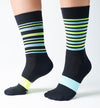 Monkey Sox: ALPINE X1 MERINO SOX: YELLOW + TURQUOISE