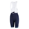 Attaquer | Women's All Day Bib Short | Navy/Reflective Tonal Logo