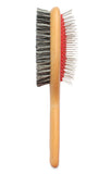 "Mars Professional Superior Double Sided Mane and Tail Horse Brush, 1"" High Quality Stainless Steel Pins, Nylon Bristles on Reverse Side"
