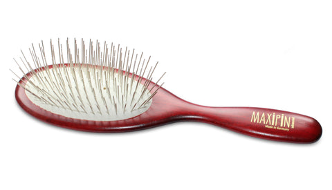 Mars Professional Advanced Maxipin Dog Brush, Solid Wood Handle and Stainless Steel Pins