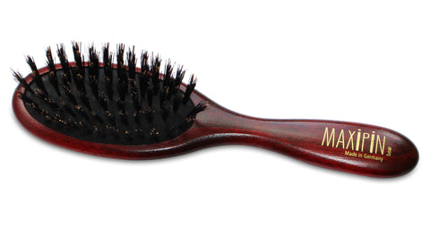Mars Professional Advanced Maxipin Boar Bristle Dog Brush, Solid Wood Handle and Boar Bristles