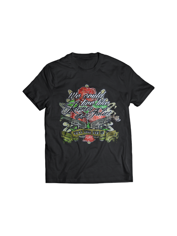 RED JUMPSUIT APPARATUS: ROMEO AND JULIET T-SHIRT