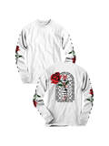 MADDTHELIN: ROSE LONG SLEEVE (WHITE) T-SHIRT