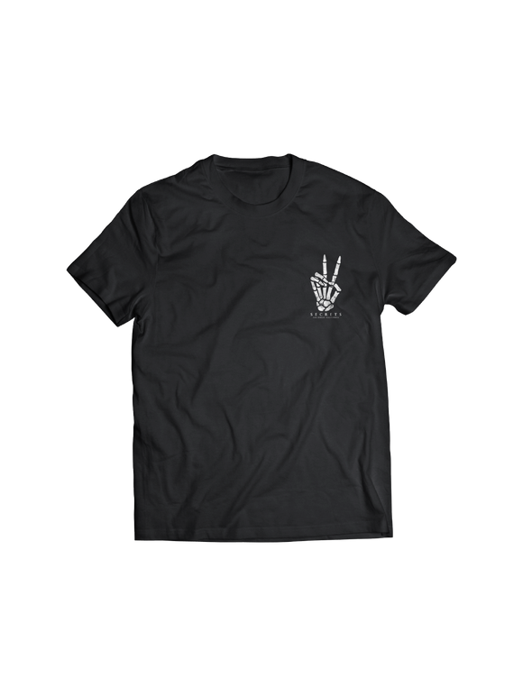 SECRETS: SKELETON PEACE POCKET T-SHIRT