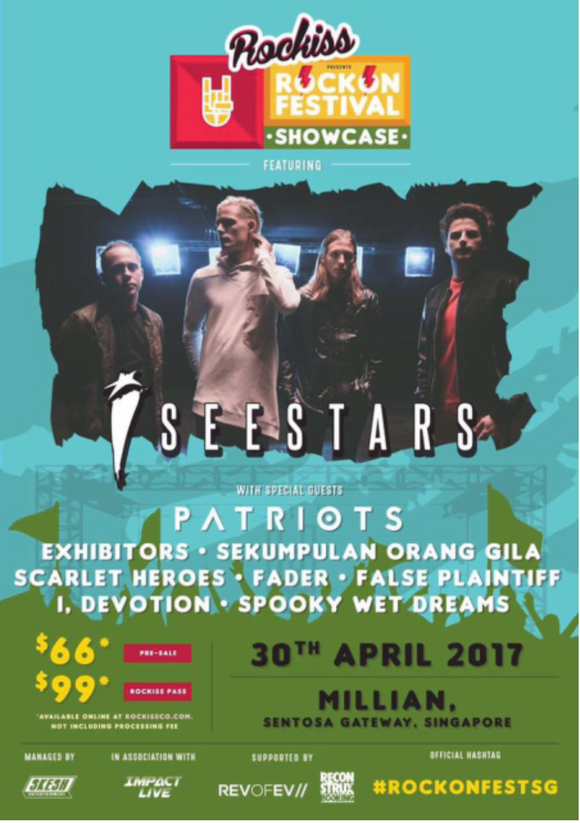 ROCKISS ROCK ON FEST SHOWCASE FEAT. I SEE STARS (LIVE IN SG 2017) POSTER