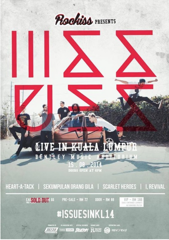 ROCKISS PRESENTS ISSUES (LIVE IN MALAYSIA 2014) POSTER