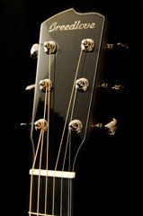 Black Chrome Tuning Machines on a Custom Built Breedlove Concerto Acoustic Guitar
