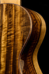 Masterclass grade Myrtlewood back and sides on a custom built Breedlove