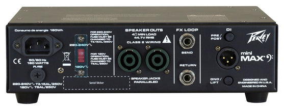 Peavey MiniMAX 600 Watt Bass Amplifier Head