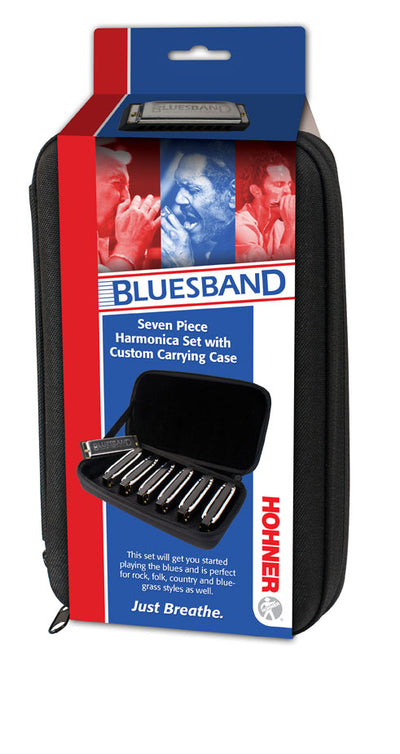 Hohner Blues Band 7 Pack Harmonicas (A, Bb, C, D, E, F, G)