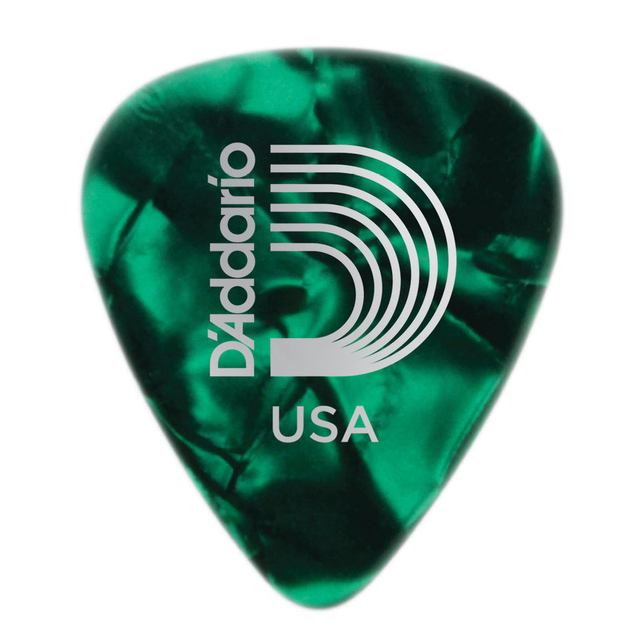 D'Addario Green Pearl Celluoid Picks 10 Pack