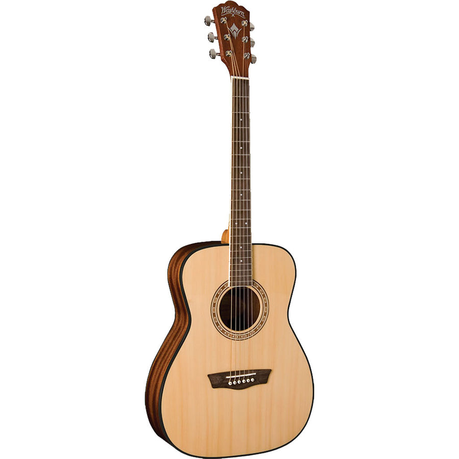 Washburn Apprentice Series AF5K Folk Body Acoustic Guitar in Natural