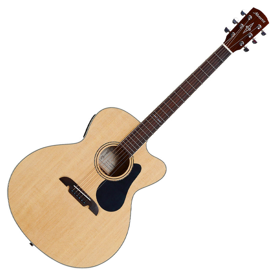 Alvarez AJ80CE Artist 80 Series Jumbo Acoustic Electric Guitar in Natural Gloss