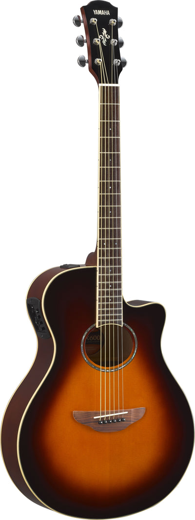 Yamaha APX600 Old Violin Burst Thinline Acoustic Electric Guitar