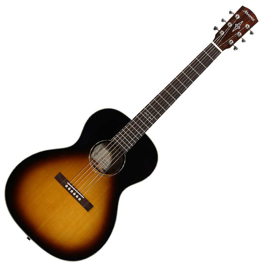 Alvarez DELTA00E Artist Blues Series Acoustic Electric Guitar - High-Gloss Vintage Burst
