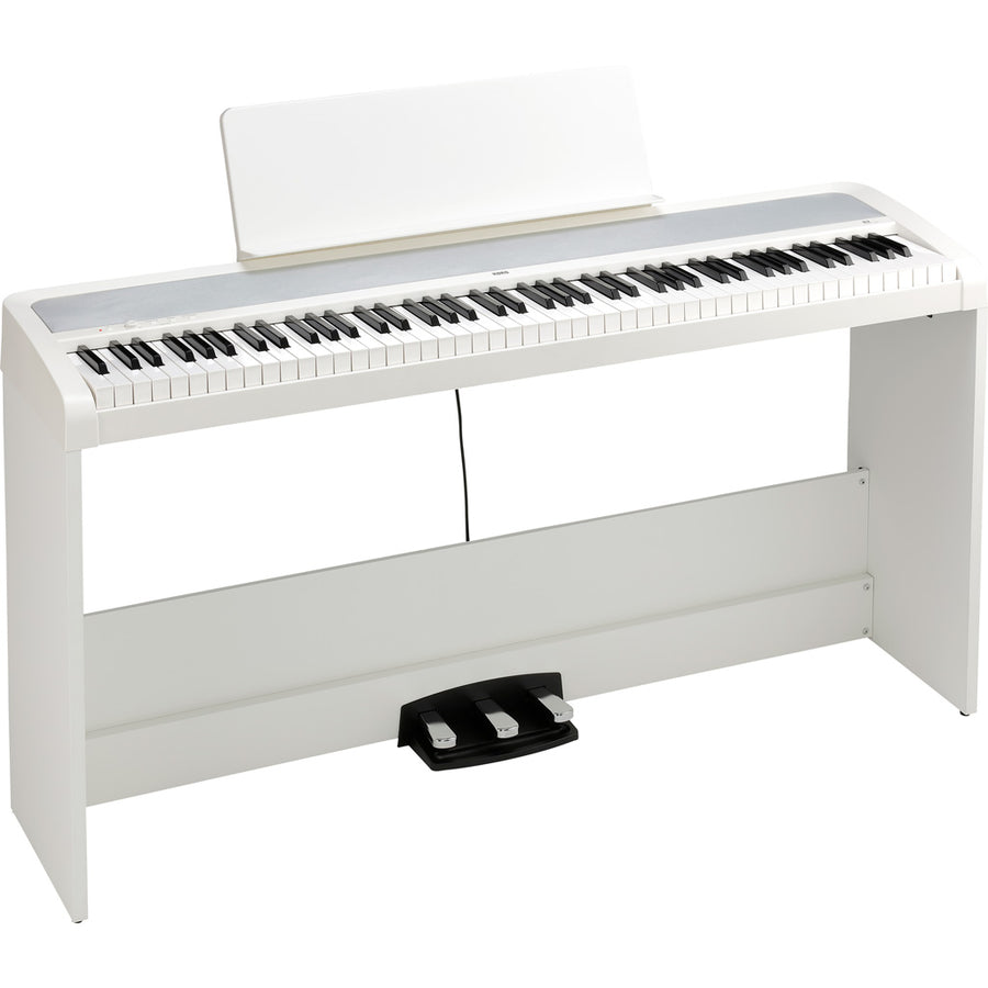 Korg B2SP 88-Key Portable Digital Piano w/Stand and Pedal in White