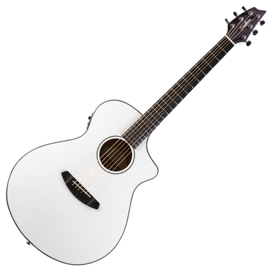 Breedlove Discovery Concert CE Satin White Limited Edition Acoustic Guitar Acoustic Electric Guitar