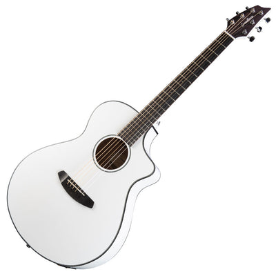 Breedlove Discovery Concert Satin White Limited Edition Acoustic Electric Guitar