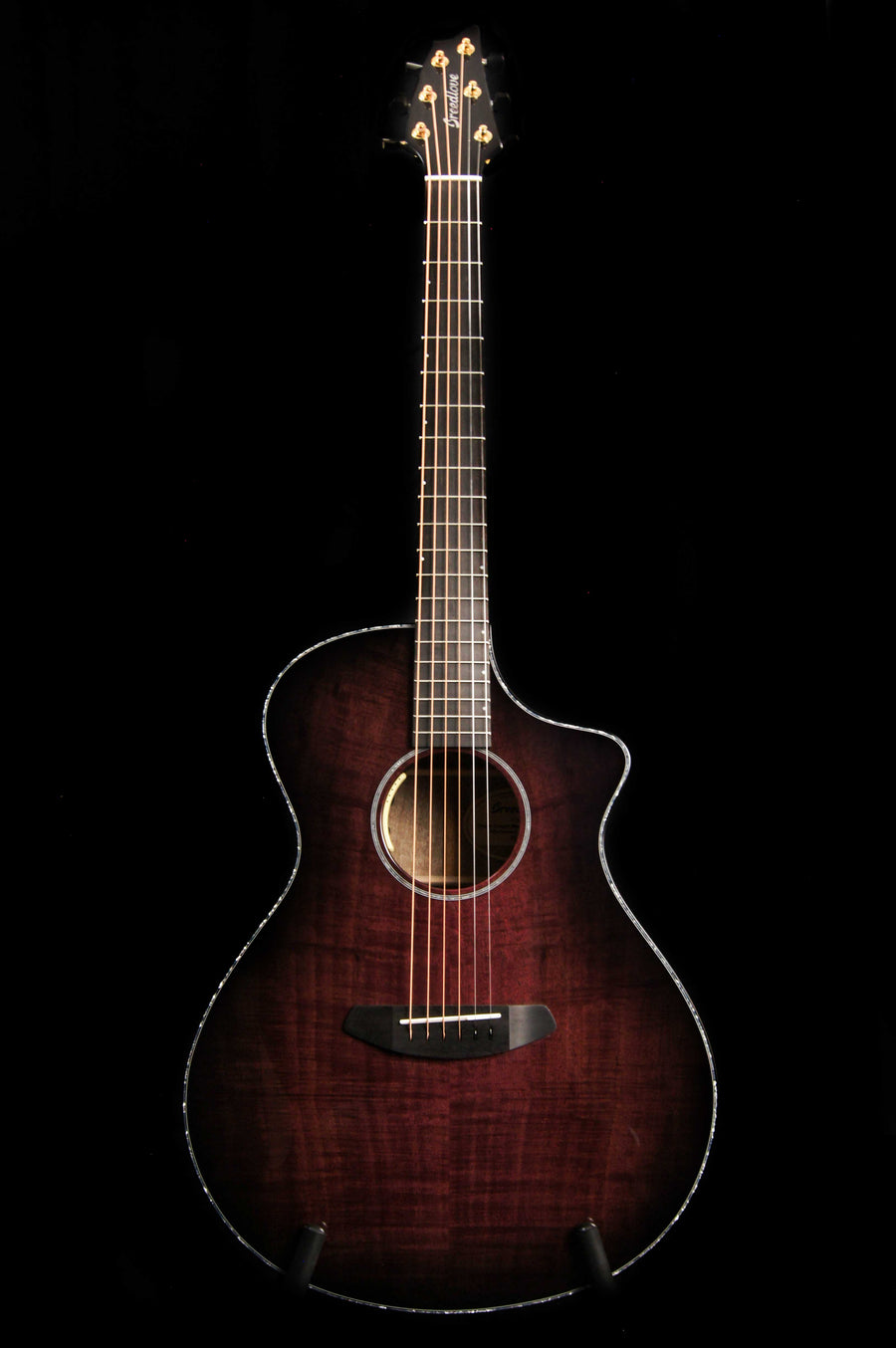 Breedlove Oregon Concert CE Black Cherry All Myrtlewood Limited Edition Acoustic Electric Guitar