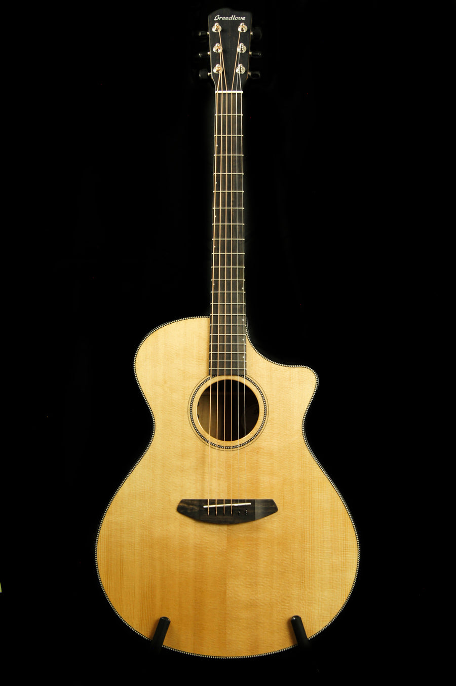 Breedlove Oregon Series Concerto CE Sitka Spruce/Myrtlewood Acoustic Electric Guitar - Includes Case