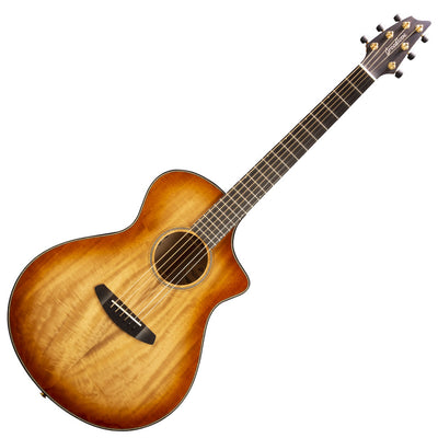 Breedlove Oregon Concert CE Cinnamon Burst All Myrtlewood Acoustic Electric Guitar