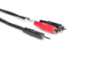 Hosa 6' Stereo Breakout Cable 3.5mm TRS to Dual RCA CMR-206