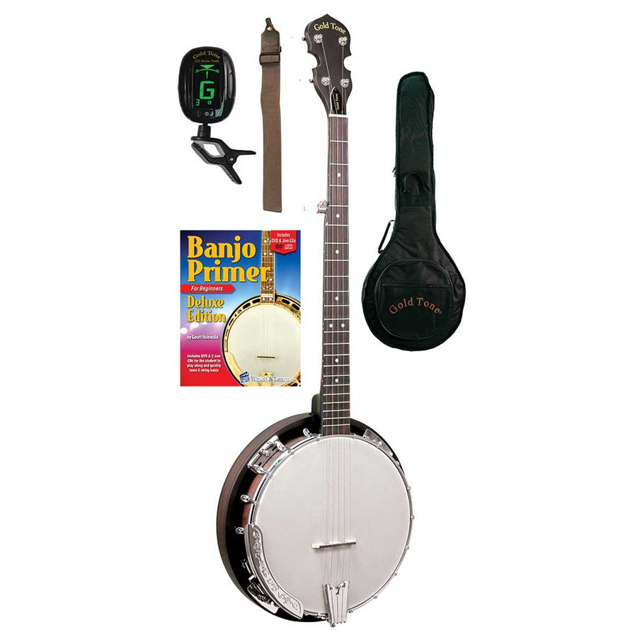 Gold Tone CC-BG Cripple Creek Banjo Bluegrass Starter Pack