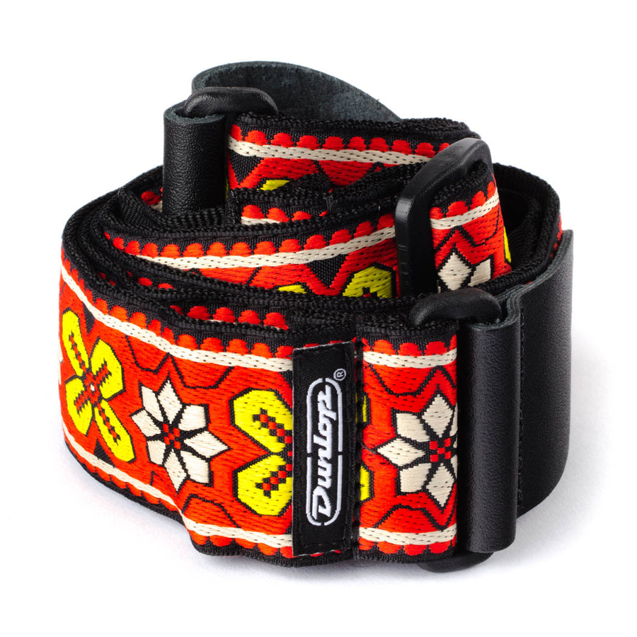 Dunlop Jacquard Avalon Red Guitar Strap