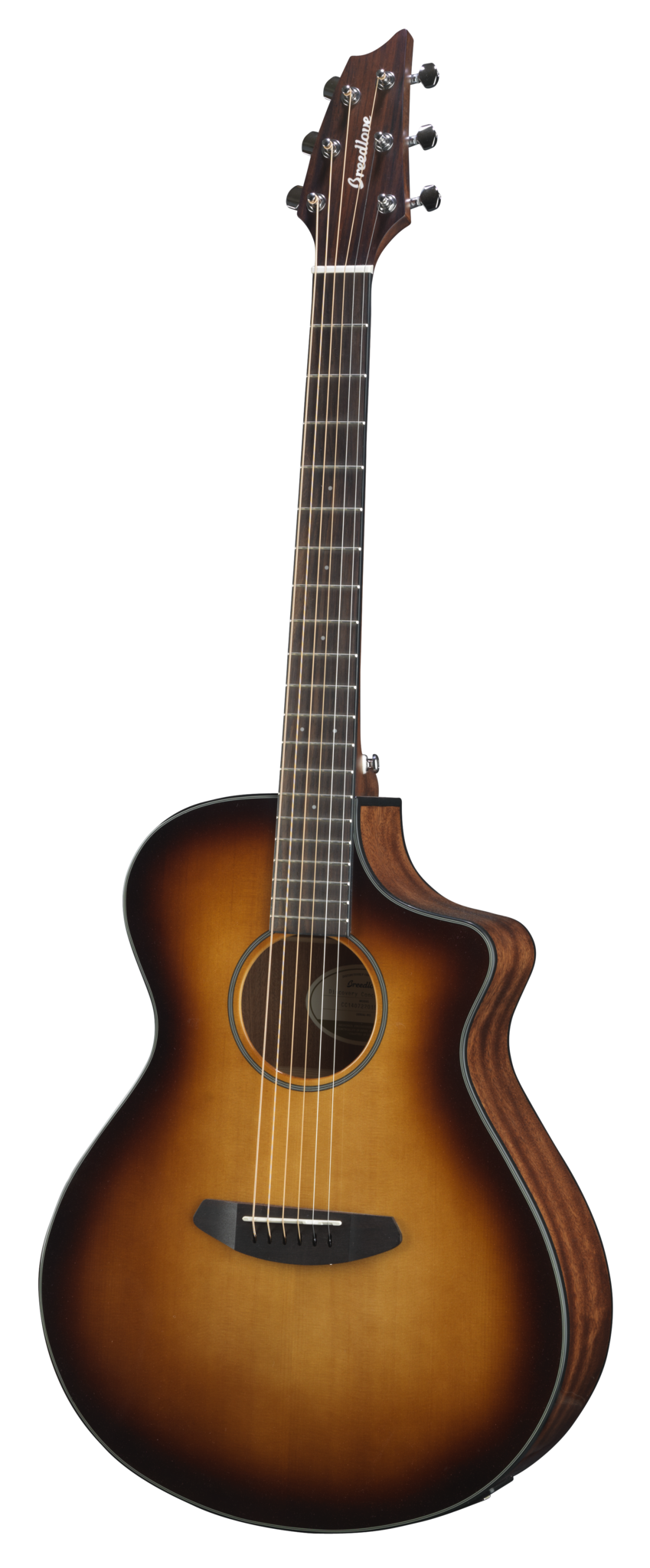 Breedlove Discovery Concert CE Sunburst Sitka Spruce/Mahogany Acoustic Electric Guitar - Includes Gig Bag