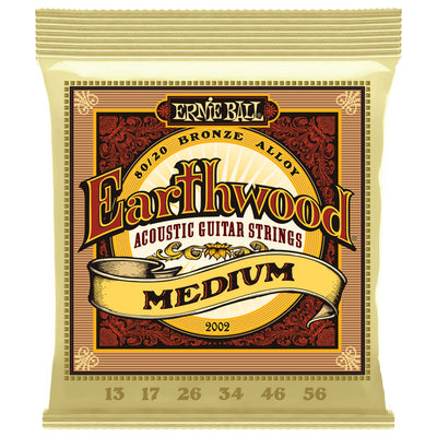 Ernie Ball Earthwood Medium Gauge 80/20 Bronze Acoustic Guitar Strings