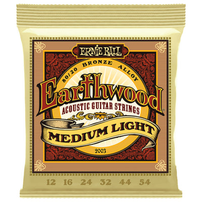 Ernie Ball Earthwood Medium Light Gauge 80/20 Bronze Acoustic Guitar Strings