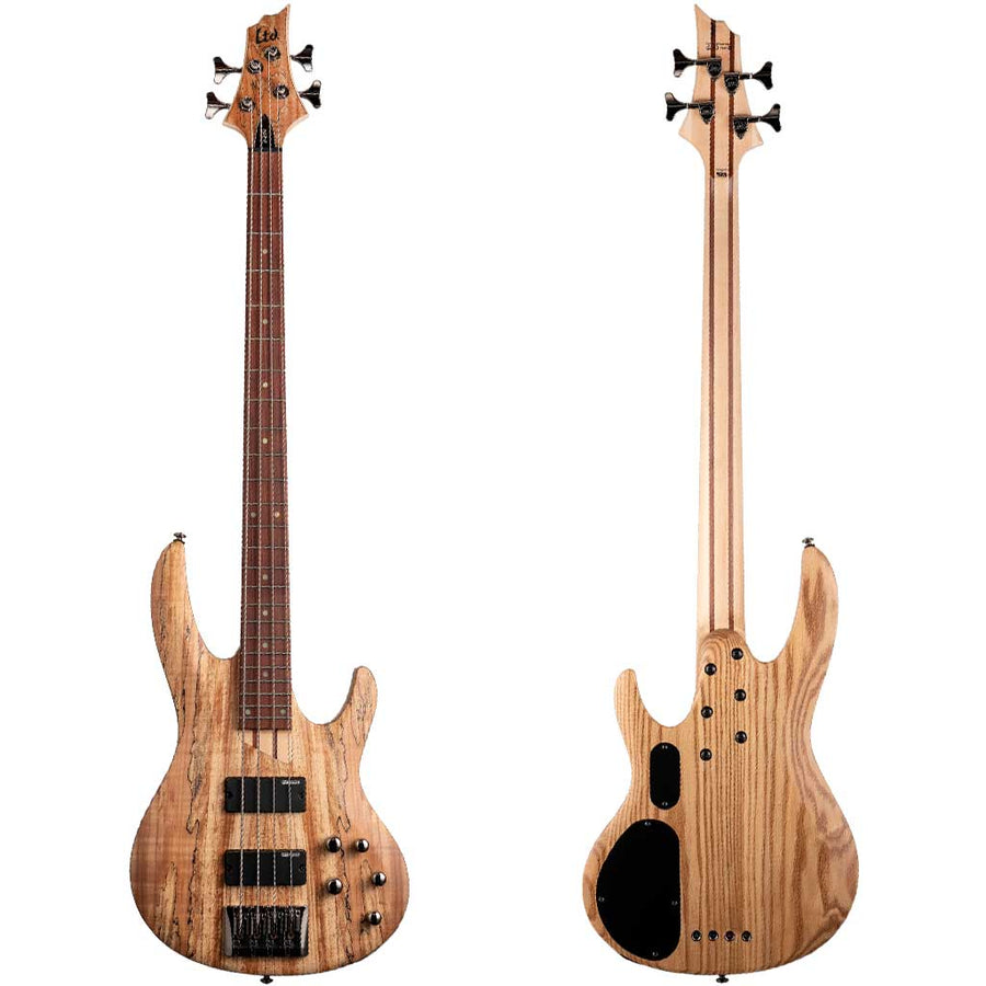 ESP LTD B-204 Spalted Maple Top Bass Guitar - Natural Satin