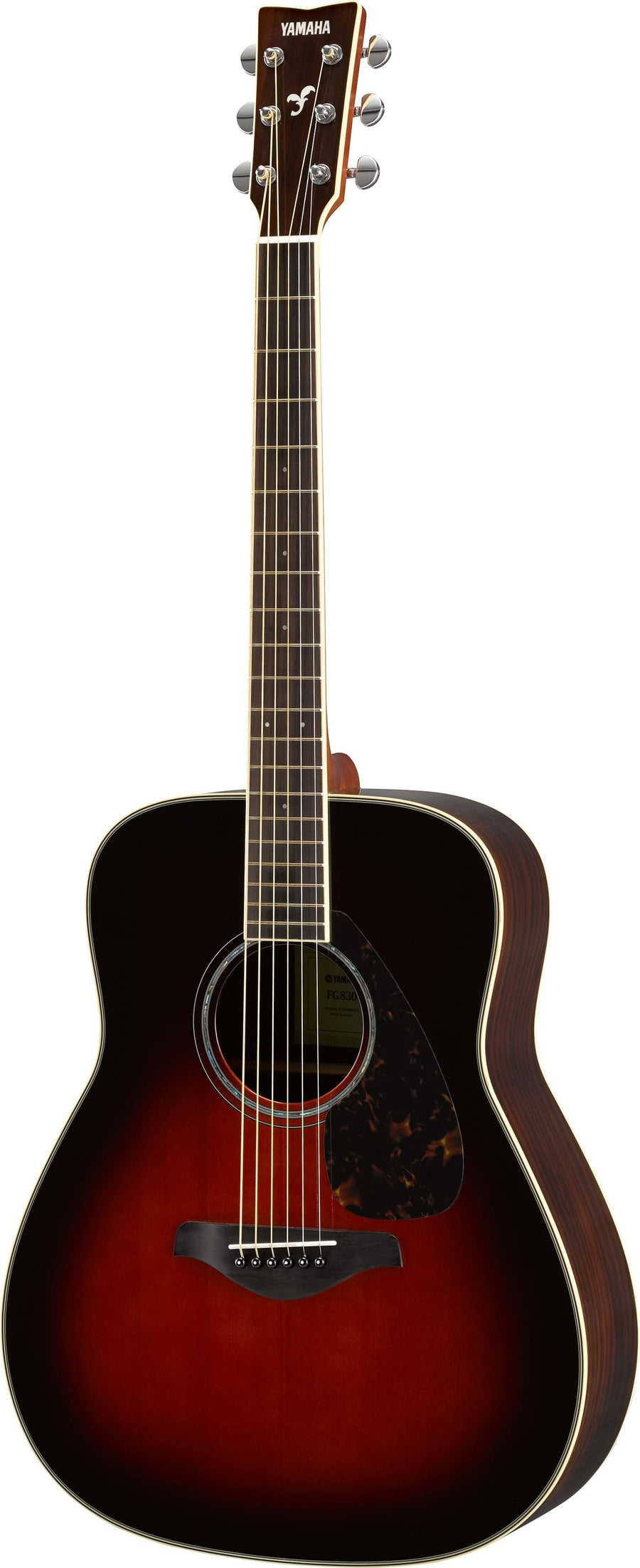 Yamaha FG830 Tobacco Brown Sunburst Acoustic Guitar