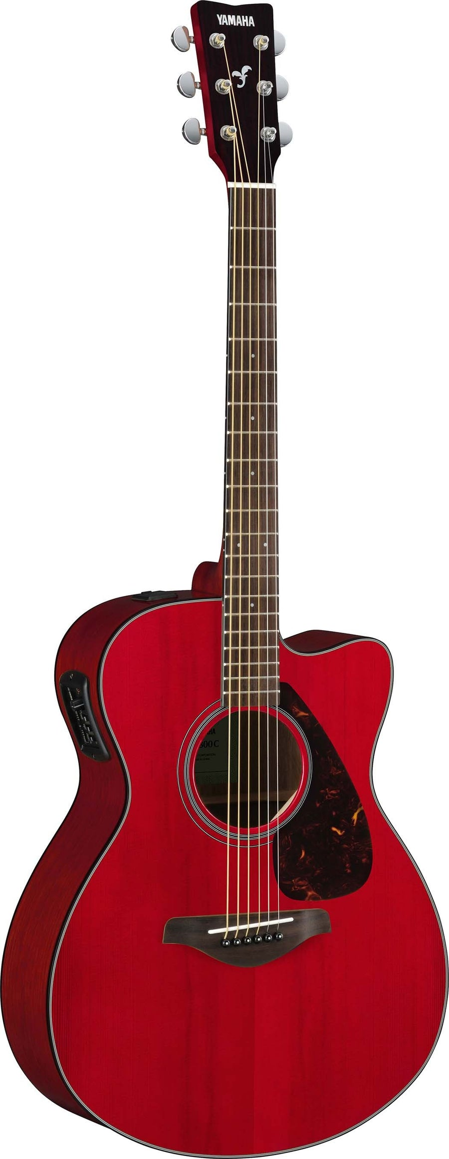 Yamaha FSX800C Ruby Red Acoustic Electric Guitar Bundle