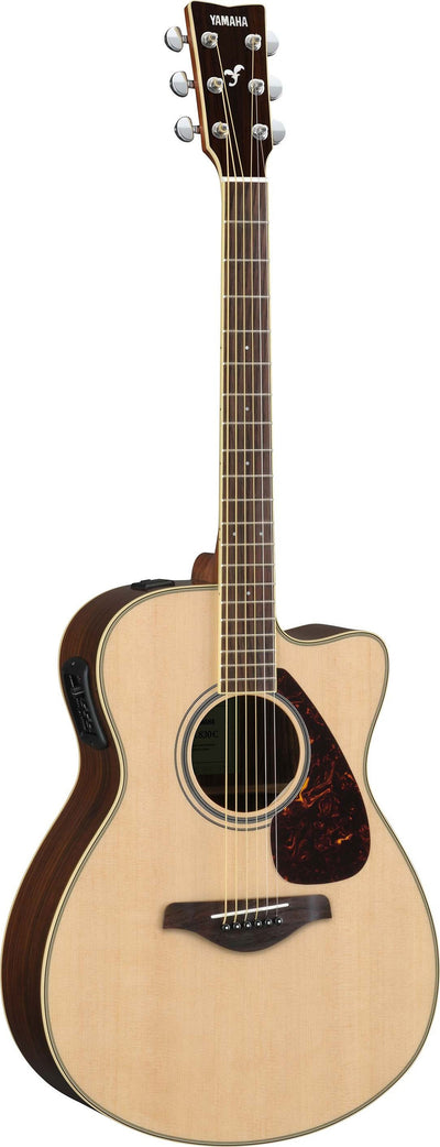 Yamaha FSX830C Small Body Acoustic Electric Guitar Bundle