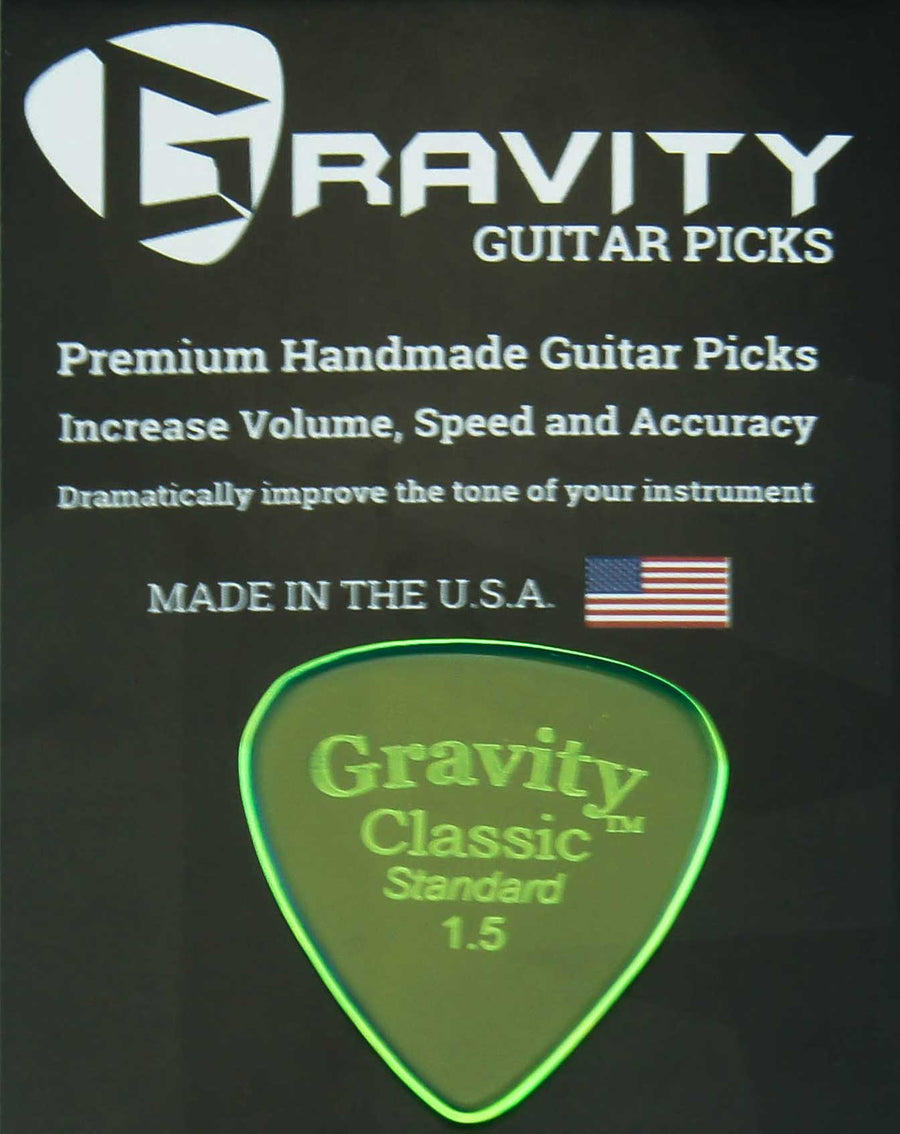 Gravity Picks Classic - 1.5 mm Standard Polished