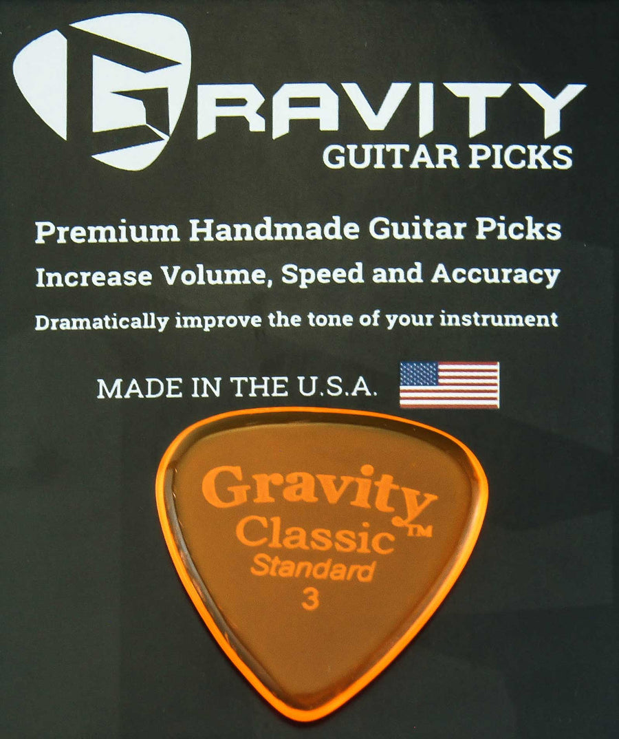 Gravity Picks Classic - 3.0 mm Standard Polished