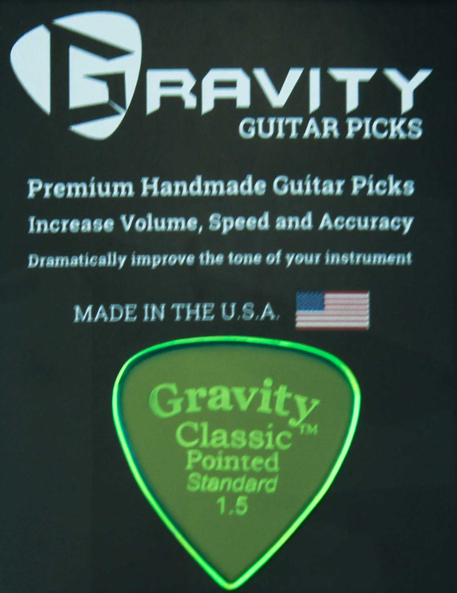 Gravity Picks Classic Pointed - 1.5 mm Standard Polished