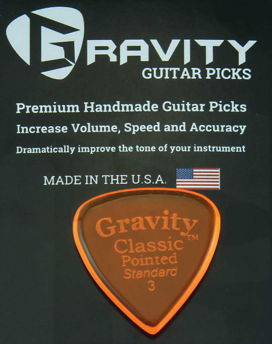 Gravity Picks Classic Pointed - 3.0 mm Standard Polished