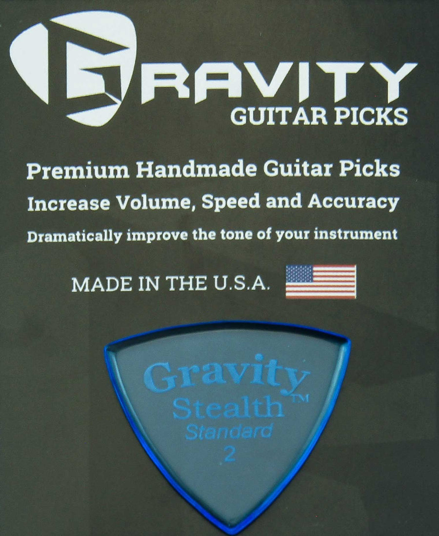 Gravity Picks Stealth - 2.0 mm Standard Polished