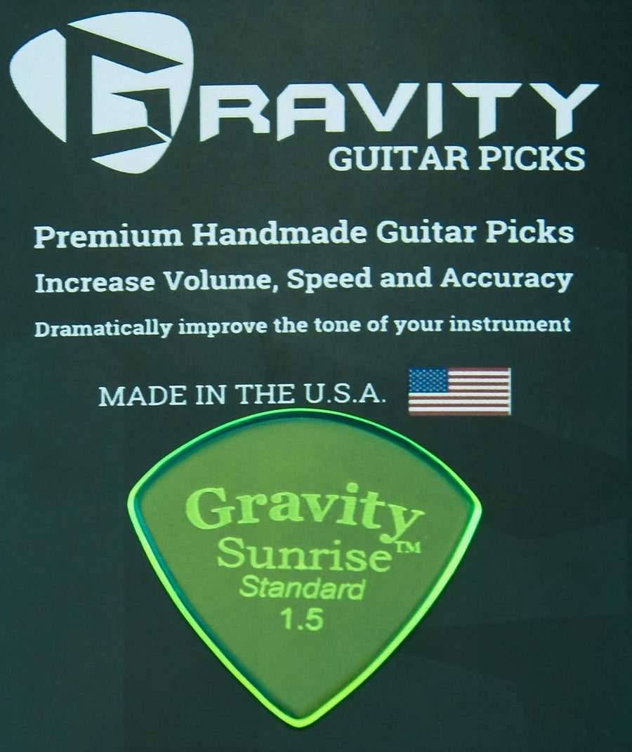 Gravity Picks Sunrise - 1.5mm Standard Polished