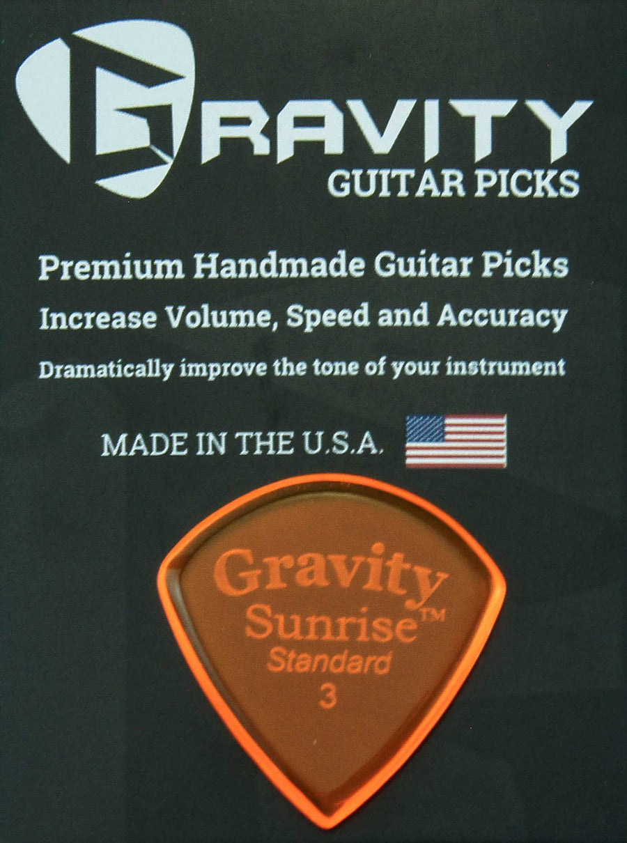 Gravity Picks Sunrise - 3.0mm Standard Polished