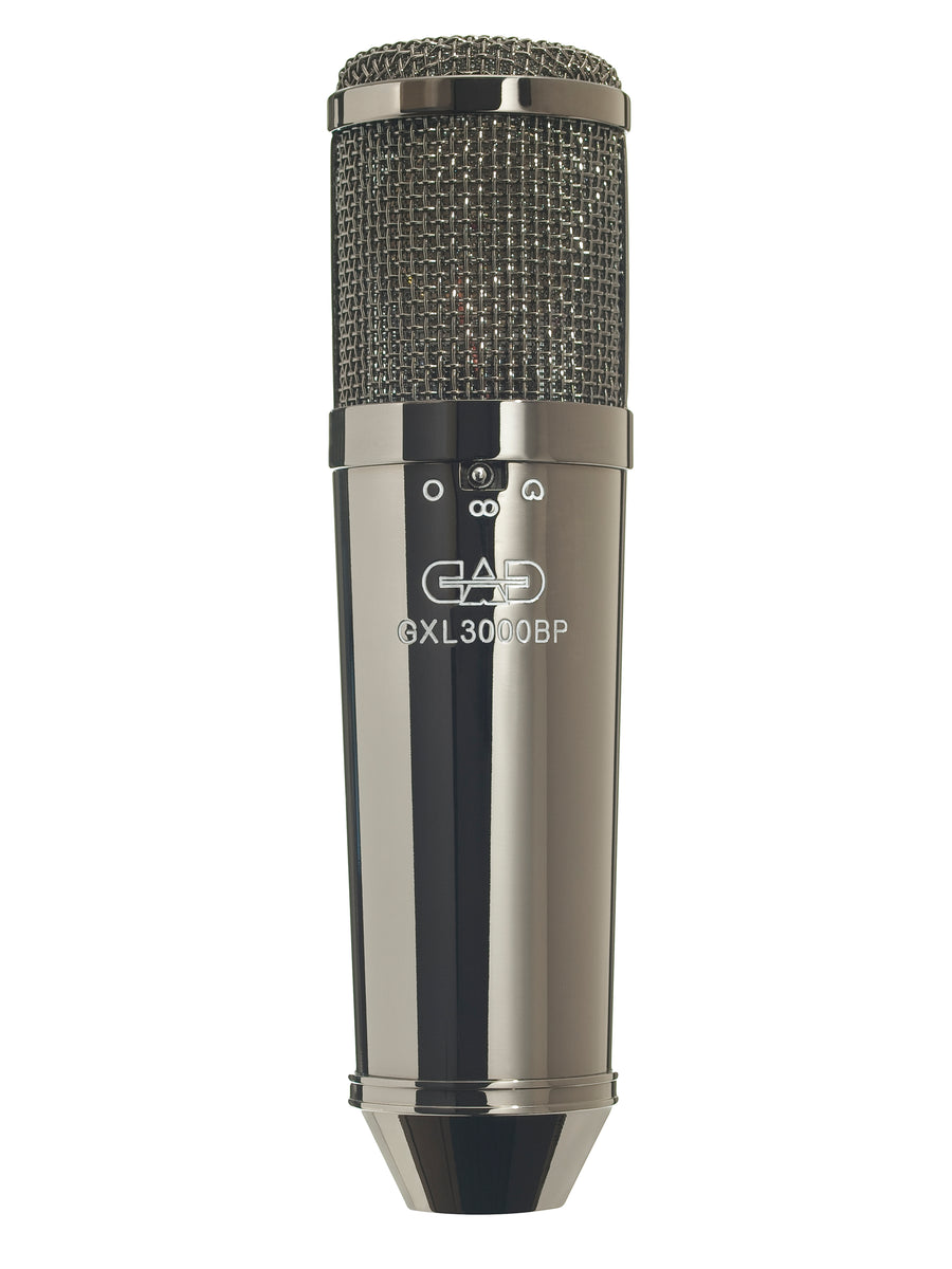 CAD Audio GXL3000 Condenser Microphone Studio Pack - Black Pearl Chrome Finish