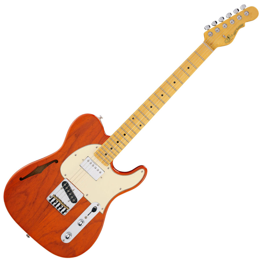 G&L Tribute Series ASAT Classic Bluesboy Semi Hollowbody -Clear Orange-