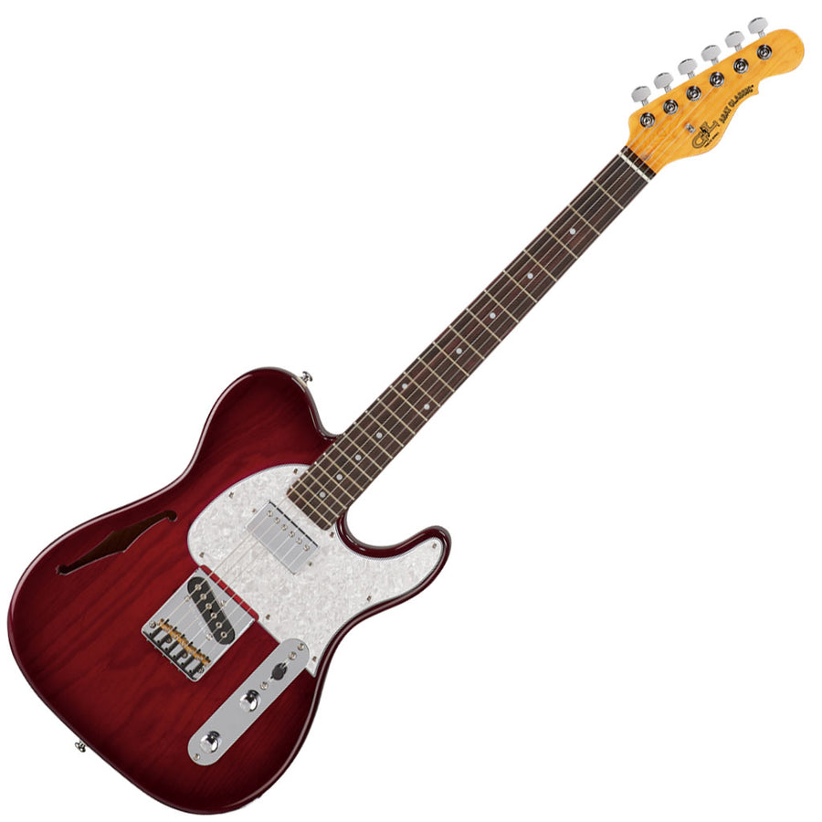 G&L Tribute Series ASAT Classic Bluesboy Semi-Hollow -Red Burst-