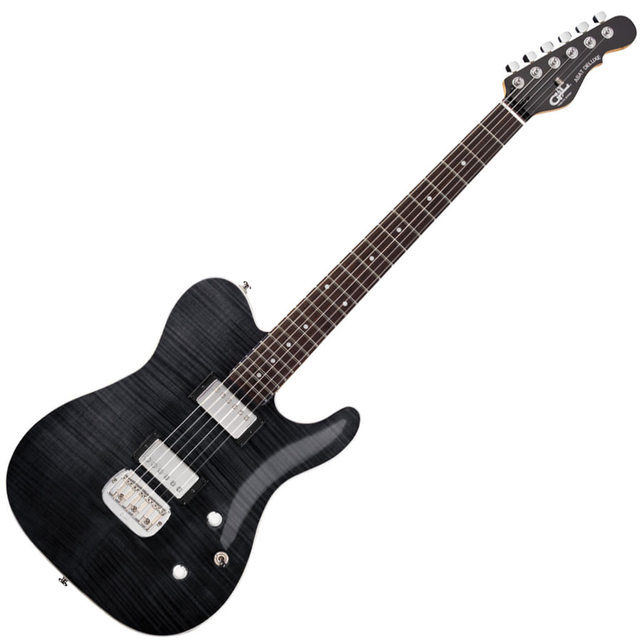 G&L Tribute Series ASAT Deluxe 'Carved Top' - Transparent Black -