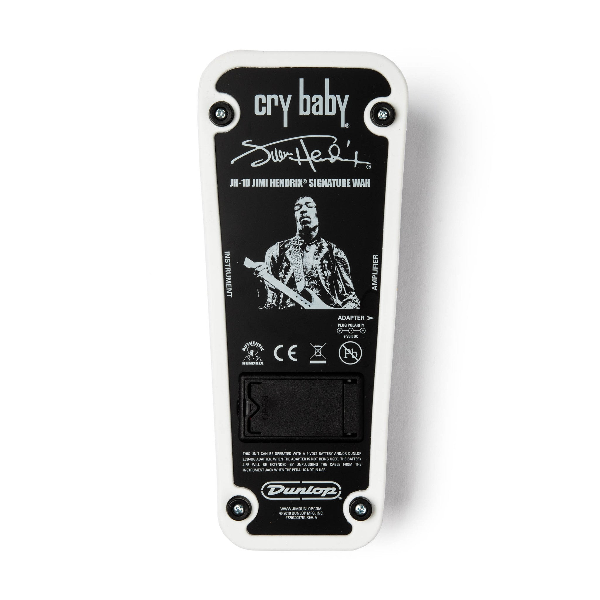 dunlop jh1d jimi hendrix signature cry baby wah pedal music village usa. Black Bedroom Furniture Sets. Home Design Ideas